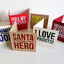 Pack Of Six Humorous Christmas Cards