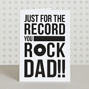 'You Rock Dad' Dad Birthday Card