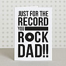 'You Rock Dad' Dad Birthday Card