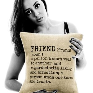 'Friend' Definition Cushion Cover - for friends