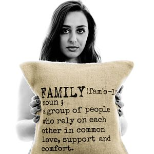 'Family' Definition Cushion Cover - gifts for families