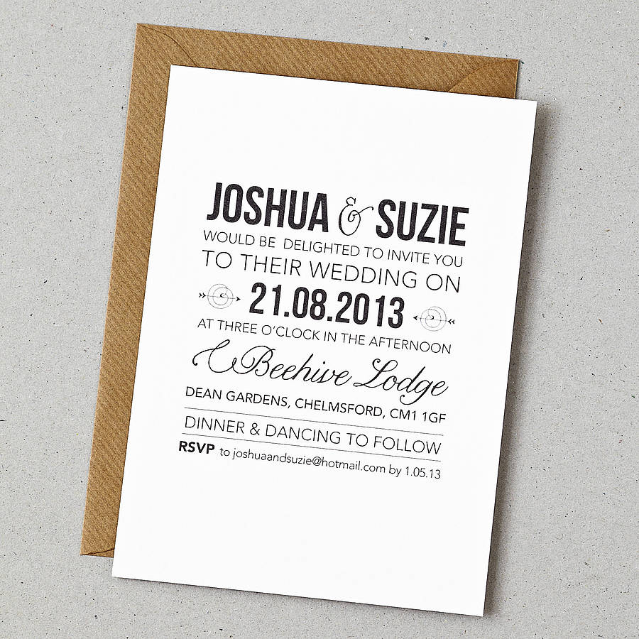 Words For Wedding Invites: Rustic Style Wedding Invitation By Doodlelove
