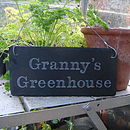 Granny's Greenhouse Sign