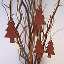 Four Woodland Tree Decorations
