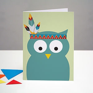 Party Owl Birthday Card - birthday cards