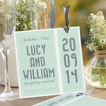 Orla Bookmark Save The Date Card