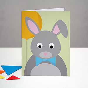 Party Rabbit Birthday Card - general birthday cards