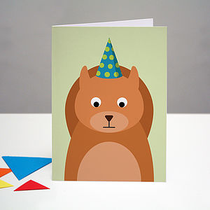 Party Squirrel Birthday Card - birthday cards