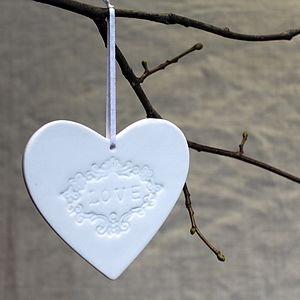 Ceramic Hanging Love Heart