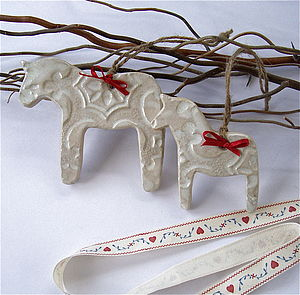 Scandinavian Dala Horse Decorations