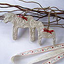 Scandinavian Dala Horse Decorations