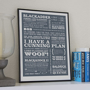 'Cunning Plan' Typographic Print - typography