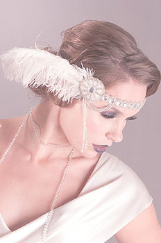 Ruby Deco Ostrich Feather Headband