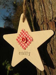 Personalised Christmas Star