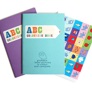 ABC Colouring Book With FREE Stickers - stocking fillers under £15