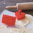 'Home Made' Or 'eat Me' Stamp Cookie Cutter