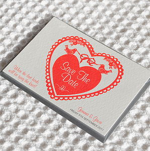 50 'Love Birds' Save The Date Cards