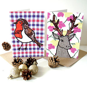 Reindeer Or Robin Christmas Card