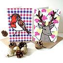 Reindeer Or Robin Christmas Card
