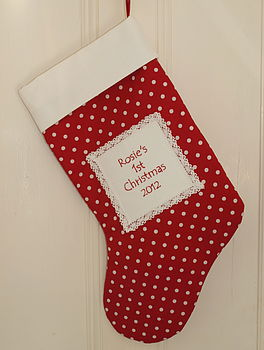 'Baby's 1st Christmas' Stocking