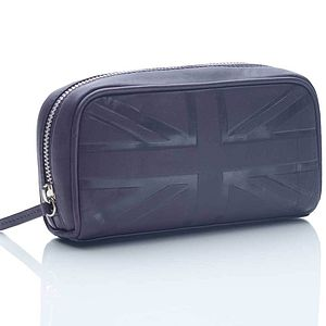 Britannia Leather Cosmetic Case - make-up bags
