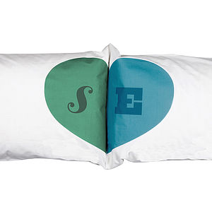 Heart Union Pillowcases - gifts for couples
