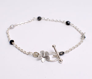 Forget Me Not Flower Charm Bracelet - jewellery