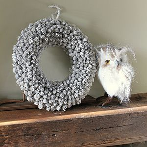 White Pinecone Wreaths - home accessories