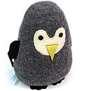 Lavender Penguin Doorstop Or Chick