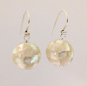 Mother Of Pearl Charm Earrings - earrings