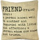 'Friend' Definition Cushion Cover