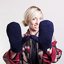 Navy Blue Mittens
