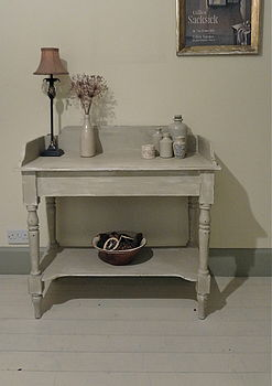Vintage Pine Country Console Table