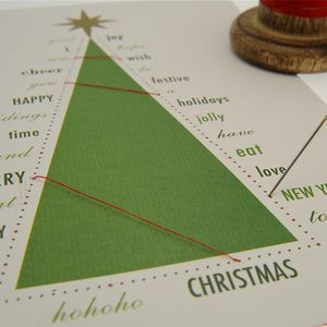 Stitch Your Christmas Card - christmas craft ideas