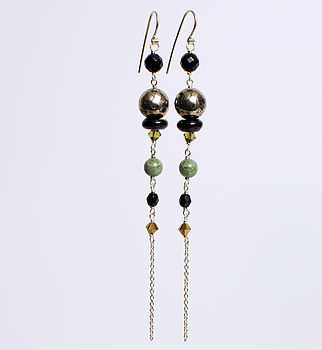 Vintage Style Vine Drop Earrings