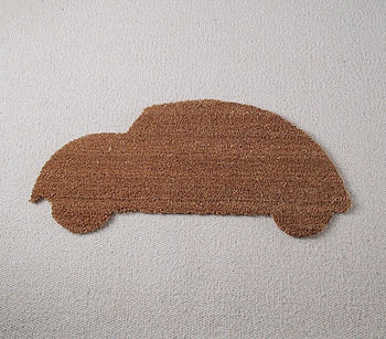 Retro VW Beetle Bug Car Door Mat