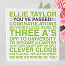 Personalised 'You've Passed' Card