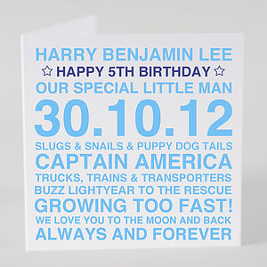 Personalised Birthday Boy Card & Optional Tag - birthday cards