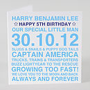 Personalised Birthday Boy Card & Optional Tag