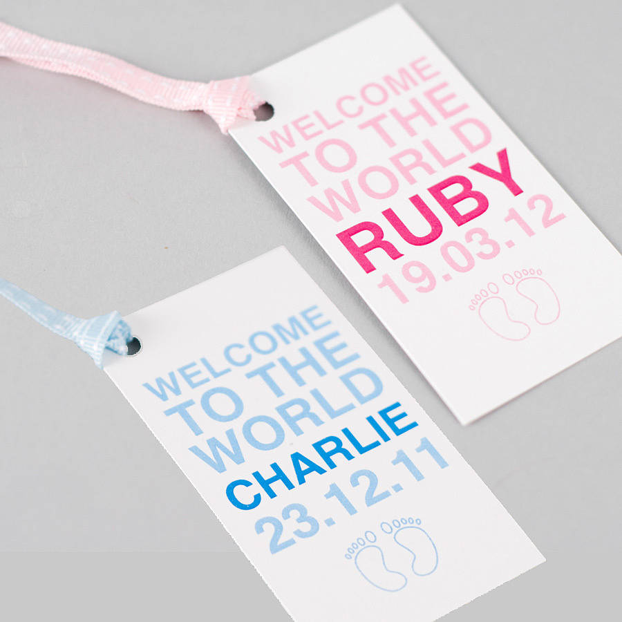 Personalised baby boy girl twins gift tag by megan claire personalised baby boy girl twins gift tag negle Image collections