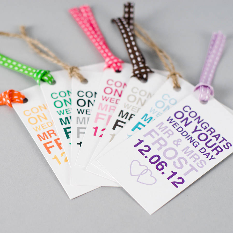 personalised wedding day gift tag by megan claire notonthehighstreet ...