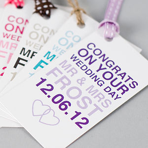 Personalised Wedding Day Gift Tag