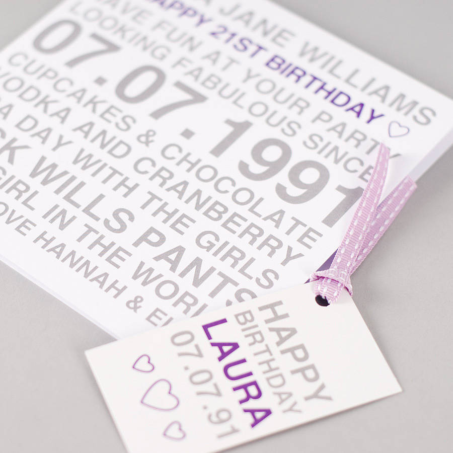 personalised birthday card for her by megan claire – Bespoke Birthday Cards