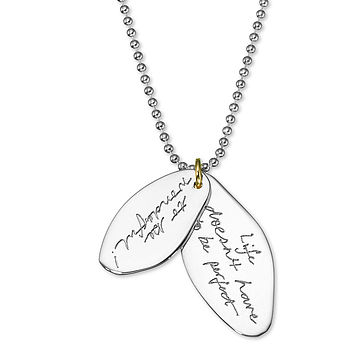 Engraved Message Pendant