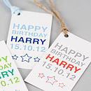 Personalised Birthday Boy & Girl Gift Tag
