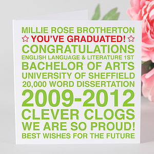 Personalised Graduation Card - graduation gifts