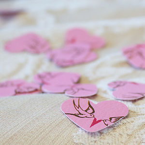 Vintage Hearts Luxury Table Confetti - table decoration