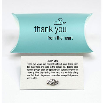 Sterling Silver Thank You Pin Brooch