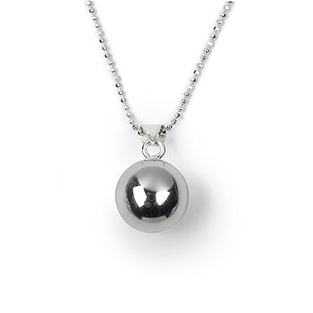 Silver Chiming Ball Necklace