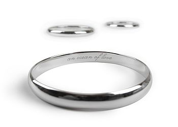 Silver Secret Message Bangle